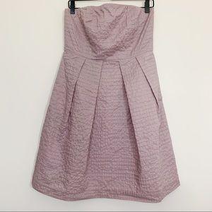 J. Crew Purple Textured Strapless Dress